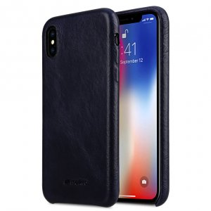 Elite Series Waxfall Pattern Premium Leather Coaming Snap Cover Case for Apple iPhone X / XS