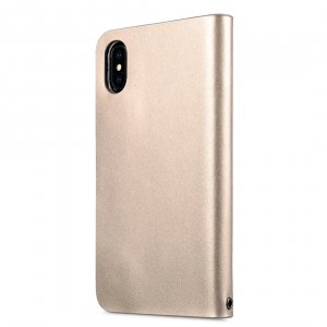 Melkco Fashion Cocktail Series Premium Leather Slim Flip Type Case for Apple iPhone X - ( Gold )