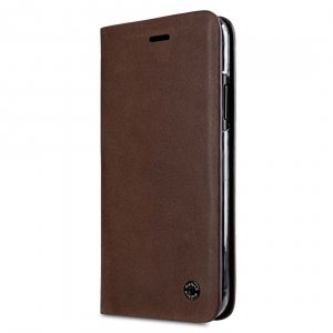 Melkco Fashion Cocktail Series Slim Flip Premium Leather Case for Apple iPhone X - (Italian Brown)