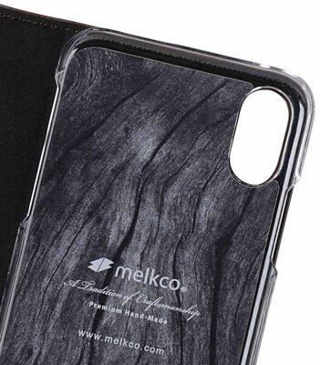 Melkco Fashion Cocktail Series Slim Flip Premium Leather Case for Apple iPhone X - (Italian Brown)