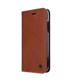 Melkco Fashion Cocktail Series Slim Flip Premium Leather Case for Apple iPhone X - (Italian Orange Brown)