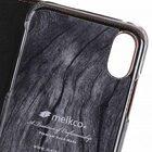 Melkco Fashion Cocktail Series Slim Flip Premium Leather Case for Apple iPhone X – (Italian Orange Brown)