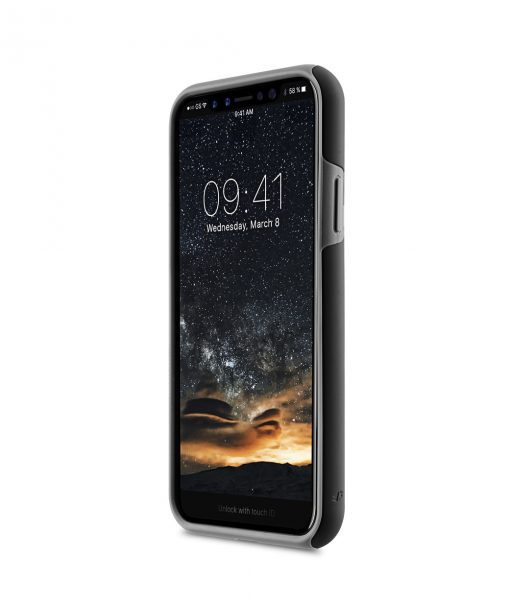 Melkco Kubalt Double Layer Case Special Edition for Apple iPhone X - (Black/Grey)