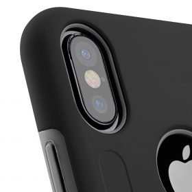 Melkco Kubalt Double Layer Case Special Edition for Apple iPhone X – (Black/Grey)