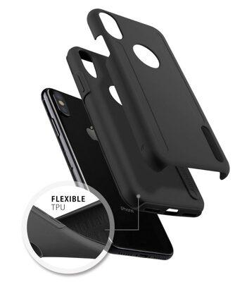 Melkco Kubalt Double Layer Case Special Edition for Apple iPhone X - (Black/Black)