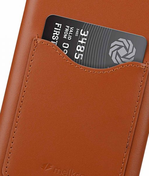 Melkco Premium Leather Card Slot Cover Case for Samsung Galaxy Note 9 - (Brown CH)Ver.2