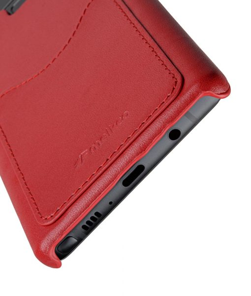 Melkco Premium Leather Card Slot Cover Case for Samsung Galaxy Note 9 - ( Red LC) Ver.2