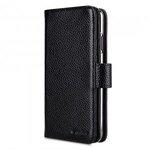 "Melkco Premium Leather Case for Apple iPhone X Plus (6.5"") - Wallet Plus Book Type (Black LC)"