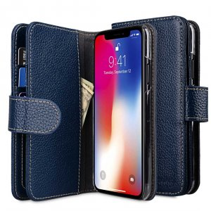 Premium Leather Case for Apple iPhone X / XS - Wallet Plus Book Type