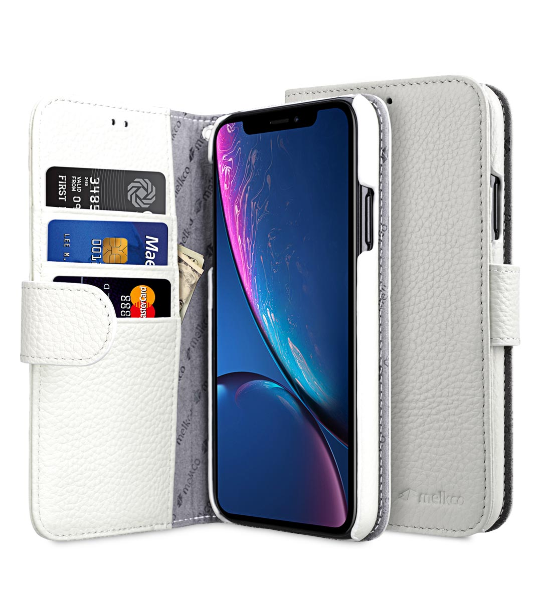 Premium Leather Case for Apple iPhone XR- Wallet Book Type