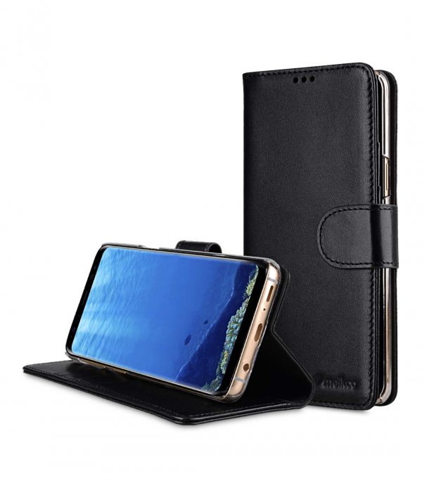 Premium Leather Case for Samsung Galaxy S9 - Wallet Book Clear Type Stand