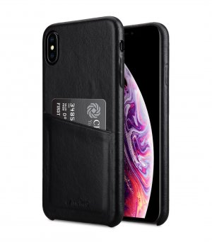 Melkco Premium Leather Coaming Pocket Case for Apple iPhone XS Max - (Black WF)
