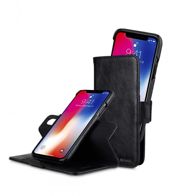 PU Leather Case for Apple iPhone X / XS - Alphard Wallet Type