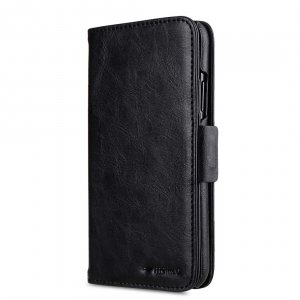 Melkco PU Leather Case for Apple iPhone X - Alphard Wallet Type (Black CH PU)