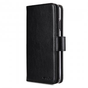 Melkco PU Leather Wallet Plus Book Type Case for Apple iPhone XS Max - (Black)