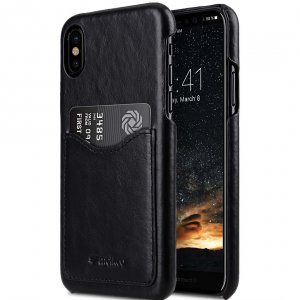 Premium Leather Card Slot Cover Case for Apple iPhone X / XS