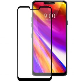 Melkco 3D Curvy 9H Tempered Glass Screen Protector for LG G7 ThinQ / G7+ ThinQ - ( Black )