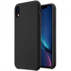 "Melkco Aqua Silicone Case for Apple iPhone XR (6.1"") - ( Black )"