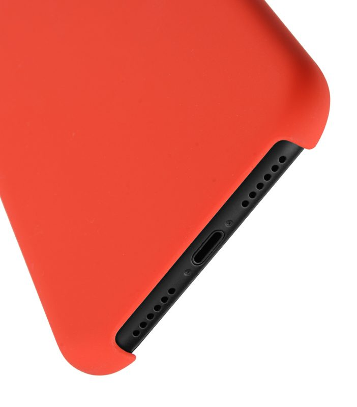 """Melkco Aqua Silicone Case for Apple iPhone XR (6.1"""") - ( Red )"""