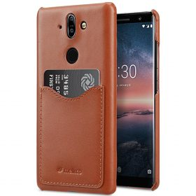 Melkco Premium Leather Card Slot Back Cover Case for Nokia 8 Sirocco – (Brown CH) Ver.2