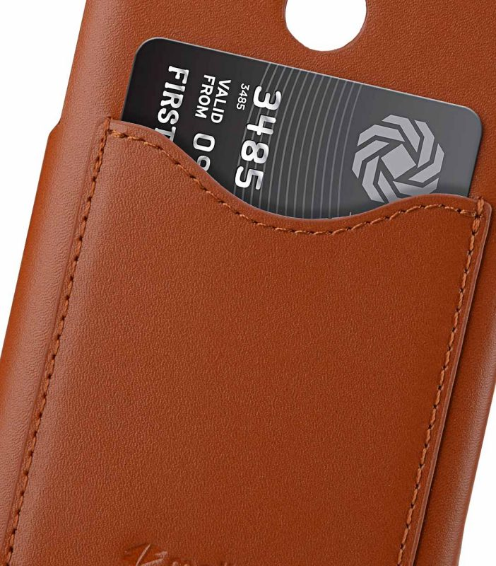 Melkco Premium Leather Card Slot Back Cover Case for Nokia 8 Sirocco - (Brown CH) Ver.2