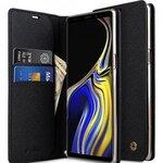 Melkco Fashion Cocktail Series Cross Pattern Premium Leather Slim Flip Type Case for Samsung Galaxy Note 9 - ( Black CP )