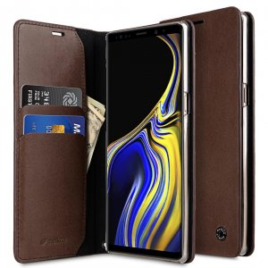 Melkco Fashion Cocktail Series Premium Leather Slim Flip Type Case for Samsung Galaxy Note 9 - ( Brown )