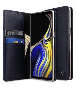 Melkco Fashion Cocktail Series Premium Leather Slim Flip Type Case for Samsung Galaxy Note 9 - ( Navy )