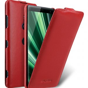 Melkco Jacka Series Premium Leather Jacka Type Case for Sony Xperia XZ3 - ( Red )