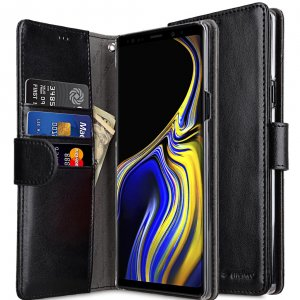 Melkco PU Leather Wallet Book Clear Type Case for Samsung Galaxy Note 9 - (Black)