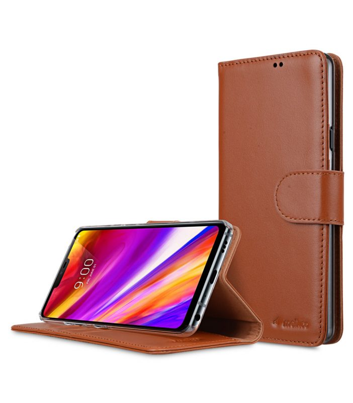 Premium Leather Case for LG G7 ThinQ / G7+ ThinQ - Wallet Book Clear Type Stand