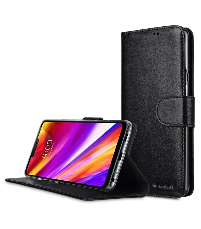 Melkco Premium Leather Case for LG G7 ThinQ / G7+ ThinQ - Wallet Book Clear Type Stand (Black)