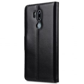 Melkco Premium Leather Case for LG G7 ThinQ / G7+ ThinQ – Wallet Book Clear Type Stand (Black)