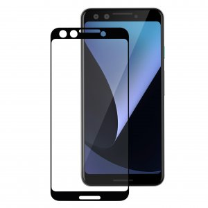 Melkco 3D Curvy 9H Tempered Glass Screen Protector for Google Pixel 3 - ( Black )