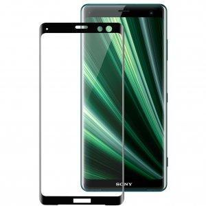 Melkco 3D Curvy 9H Tempered Glass Screen Protector for Sony Xperia XZ3 - ( Black )