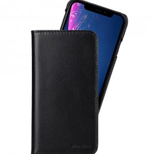 Melkco Premium Leather Alphard Type Case for Apple iPhone XR - (Black)