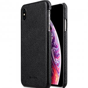 "Melkco Premium Leather Snap Cover Case for Apple iPhone XS Max (6.5"") - (Black LC)"