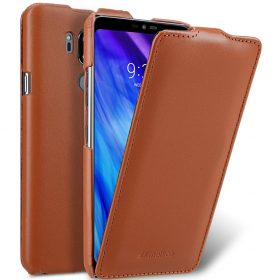 Melkco Premium Leather Case for LG G7 ThinQ / G7+ ThinQ – Jacka Type (Brown CH)