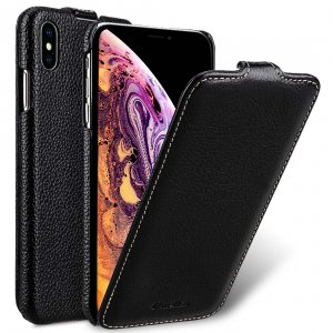 Melkco Premium Leather Case for Apple iPhone XS Max - Jacka Type (Black LC)