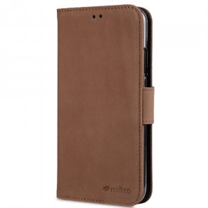 Melkco Premium Leather Case for Apple iPhone XR - Wallet Book ID Slot Type (Classic Vintage Brown)