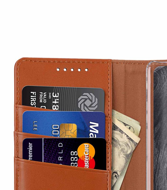 Melkco Premium Leather Case for Nokia 8 Sirocco - Wallet Book Clear Type Stand (Brown CH)