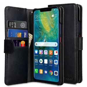 Melkco PU Leather Wallet Book Type Case for Huawei Mate 20 Pro - (Black CH)