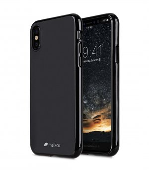 Poly Jacket TPU Case for Apple iPhone X - (Black Mat)