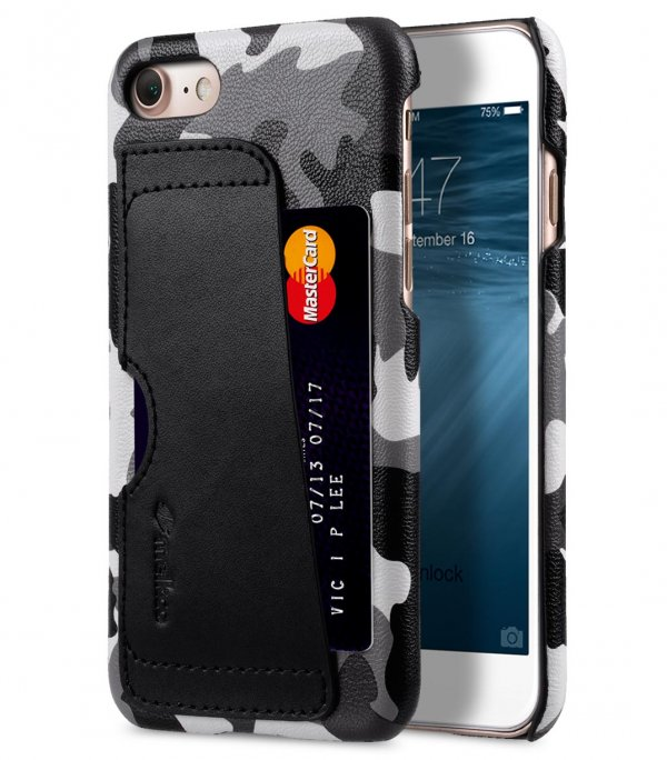 """Fashion European Series (Camouflage Collection) PU Leather Card Slot Snap Cover for Apple iPhone 7 / 8 (4.7"""")"""