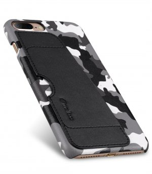 "Melkco Fashion European Series Camouflage Collection Camouflage PU Leather Card Slot Snap Cover Case for Apple iPhone 7 / 8 Plus (5.5"") - ( Black CM )"