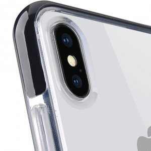 """Melkco Clear Supreme Guard Case for Apple iPhone XS Max (6.5"""") - ( Transparent / Black )"""