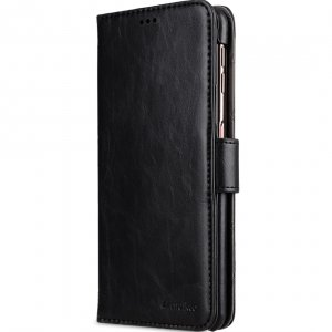 Melkco PU Leather Wallet Book Type Case for Samsung Galaxy A7 (2018) - (Black CH)