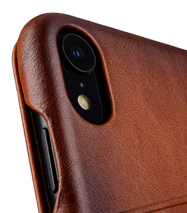 "Melkco Elite Series Premium Leather Face Cover Back Slot Case for Apple iPhone XR (6.1"") - (Tan)"