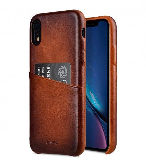 "Melkco Elite Series Premium Leather Snap Back Pocket Case for Apple iPhone XR (6.1"") - ( Tan )"