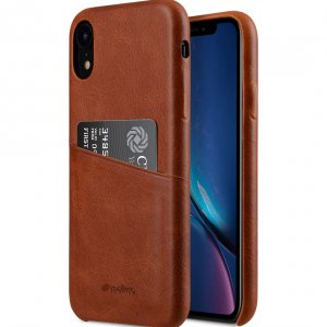 Melkco Elite Series Waxfall Pattern Premium Leather Coaming Pocket Case for Apple iPhone XR - ( Tan WF )